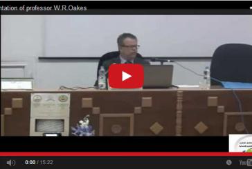 Presentation of professor W.R.Oakes